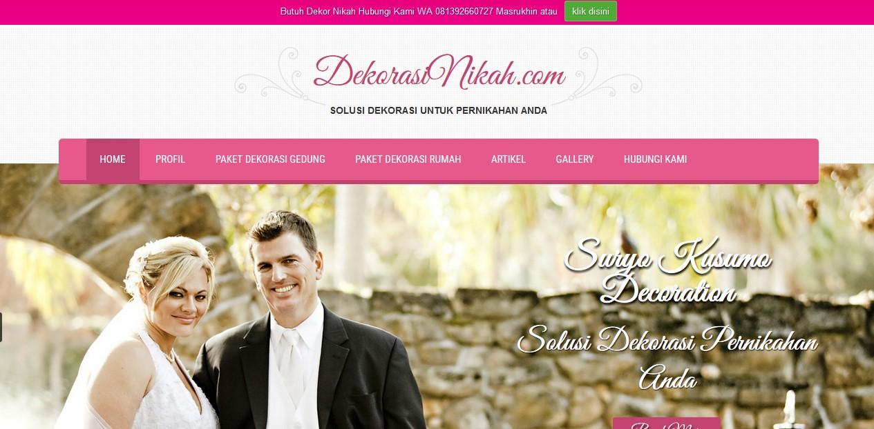Alhamdulillah Website dekorasinikah.com sudah 80 % selesai