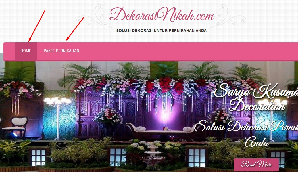 cara setting menu di website kita