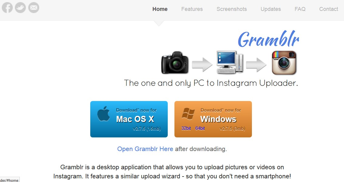 video cara upload gambar instagram melalui laptop